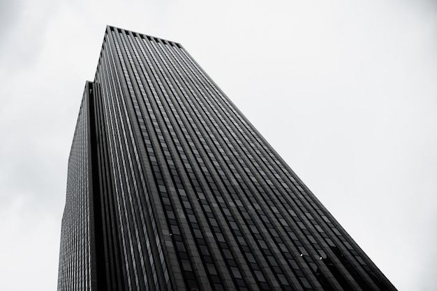 Modern building in urban zone low angle Free Photo