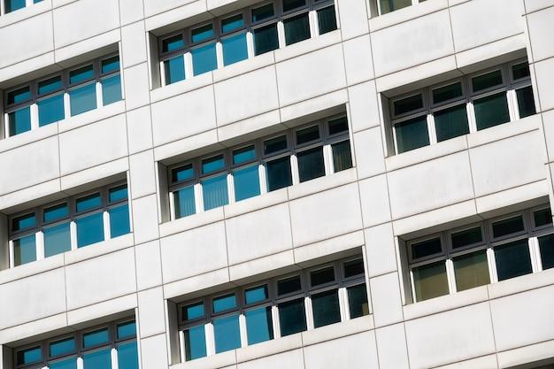 도시에서 현대 비즈니스 아키텍처 배경