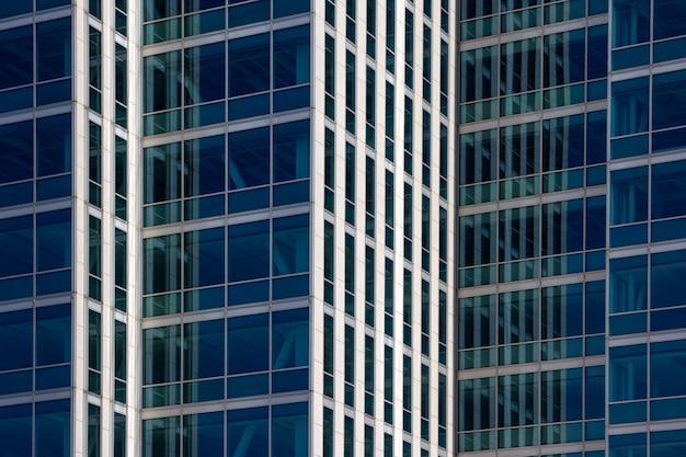 현대 비즈니스 사무실 건물 외관입니다. 본사 배경