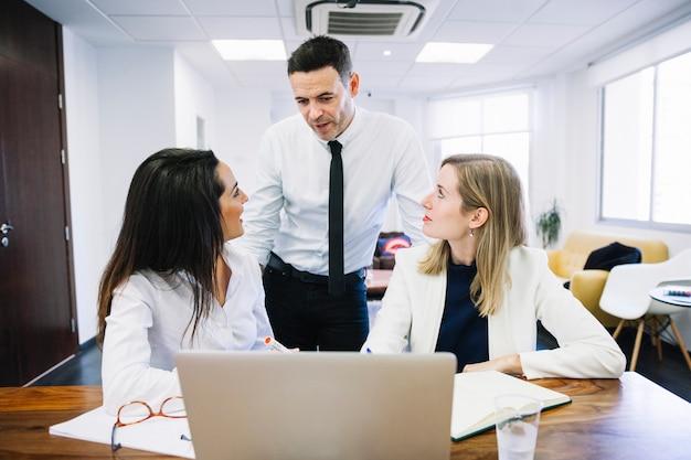 Modern business people in office