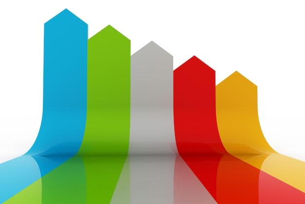 Современный бизнес, шаги к успеху, диаграммы и графические варианты баннеров