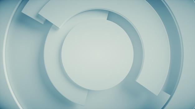 現代のビジネスビデオの背景。円の回転部分。