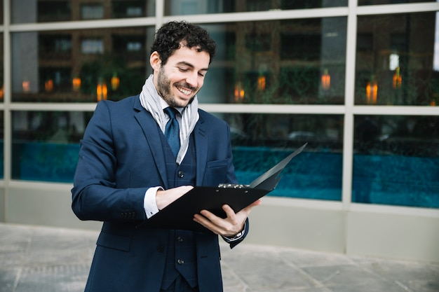Modern businessman in urban environment