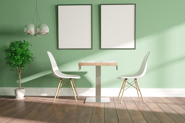 Современное кафе интерьер сцены дизайн интерьера. 3d иллюстрации