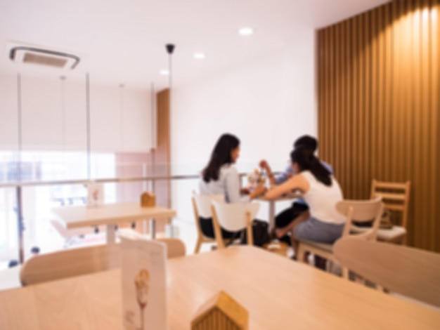 Modern cafe with women