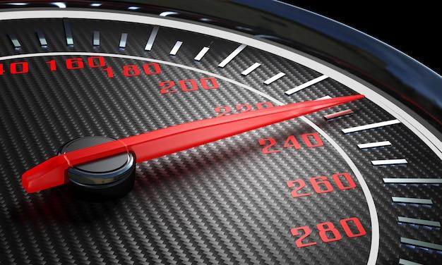 Modern carbon speedometer