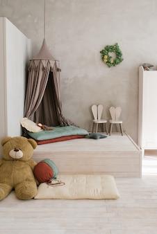 현대 어린이 방 토끼의 형태로 연단 부드러운 장난감 높은 의자에 텐트 침대