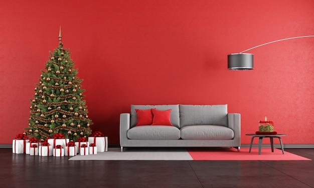 현대 크리스마스 거실