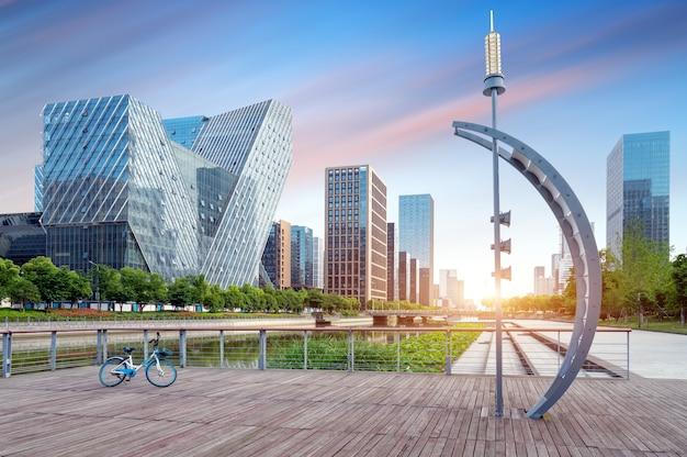 현대 도시 고층 건물