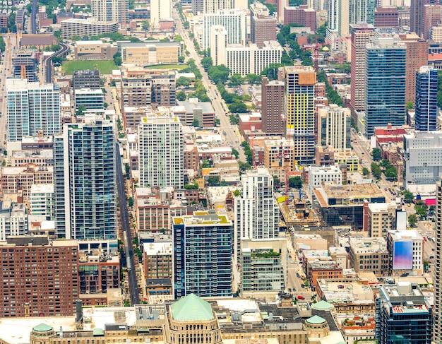 Modern city top view.