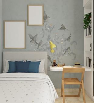 Современная классическая детская спальня с пустой рамкой фото