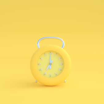 Modern clock pastel yellow color