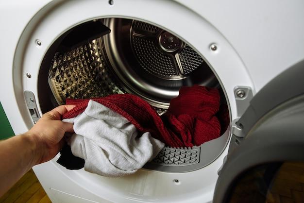 現代の衣類乾燥機乾いた服