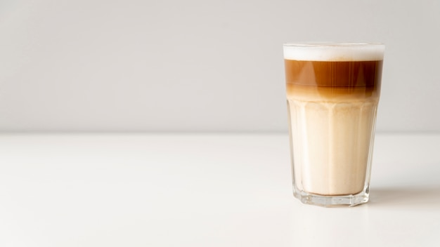 Modern coffee glass with copy space