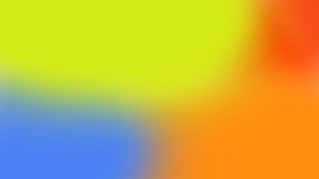 緑、赤、オレンジ、青の色のモダンな色のぼやけたまたはグラデーションの背景パターン。人はいない。