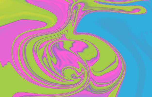 モダンでカラフルな流れの背景波の色液体の形抽象的なデザイン色ダイナミック液体
