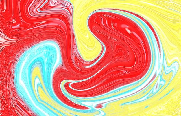 현대 다채로운 흐름 배경 웨이브 색상 액체 모양 추상 디자인색상 동적
