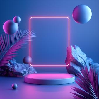 현대 다채로운 모형 디스플레이