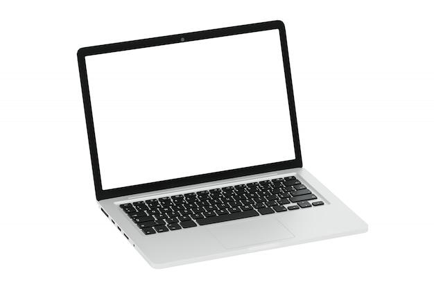 Modern computer laptop on white