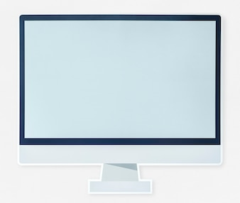 Modern computer monitor icon isolated