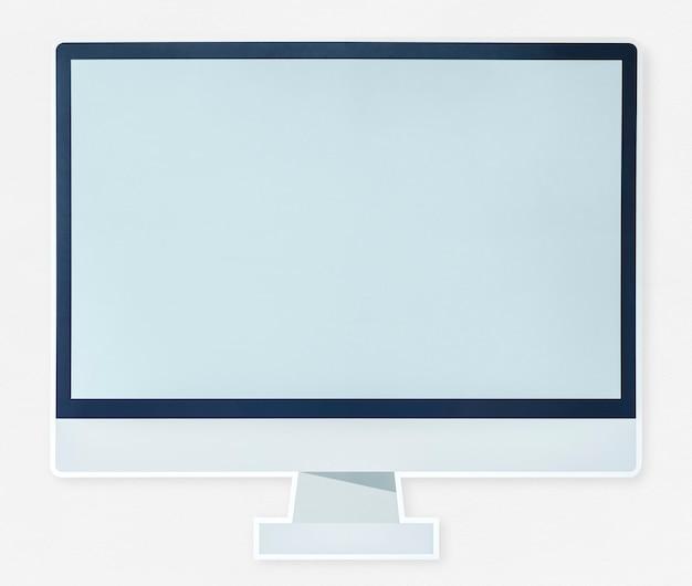 현대 컴퓨터 모니터 아이콘 절연