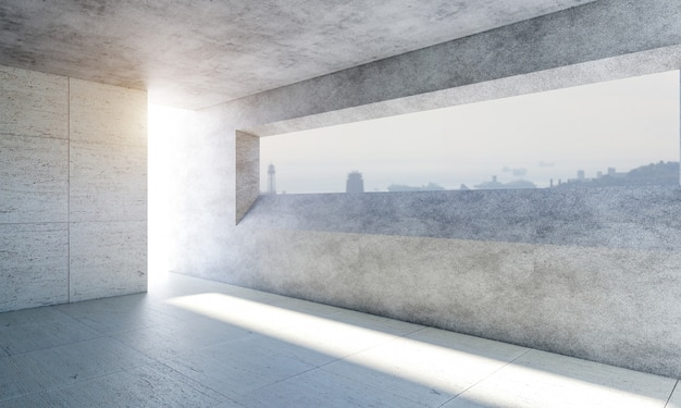 Modern concrete room
