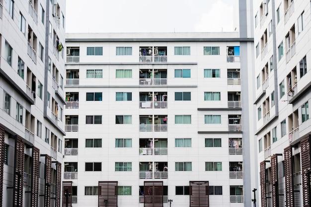Modern condominium, luxury apartment building in bangkok
