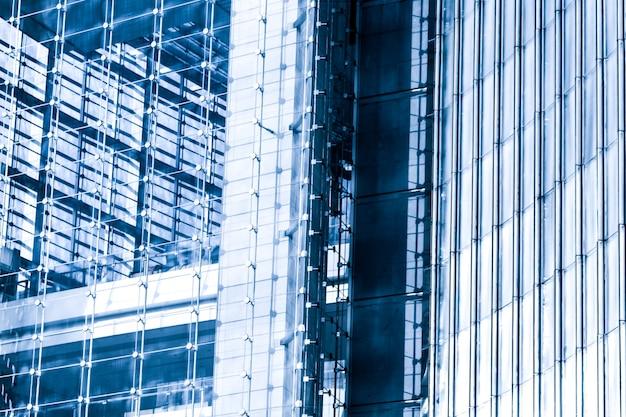 Современный корпоративный синий фон города
