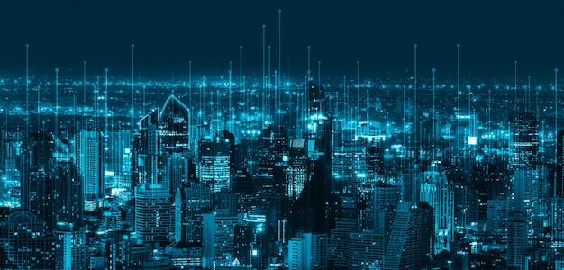 스마트 시티의 현대 창조적 커뮤니케이션 및 인터넷 네트워크 연결