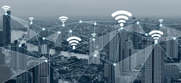 スマートシティにおける現代の創造的なコミュニケーションとインターネットネットワーク接続