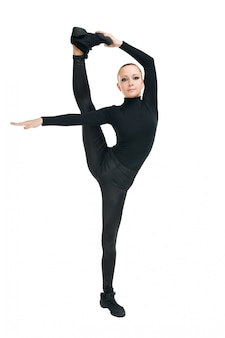Modern dancer with great stretching
