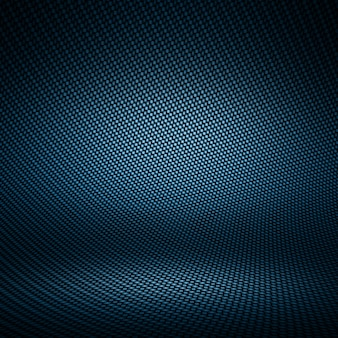 Modern dark blue carbon fiber textured interior studio with light for background