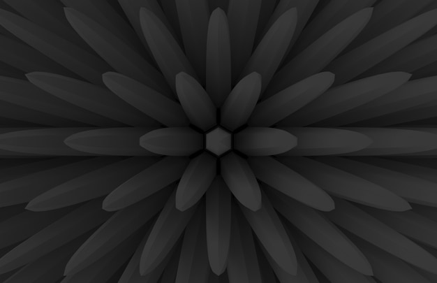 Modern dark extrude geometry bar in blooming flower shape pattern wall