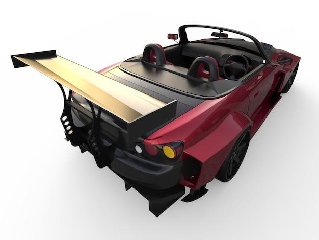 Modern dark red sports convertible