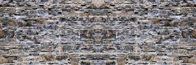 ファサードの外装装飾のためのモダンな装飾的な石の壁