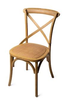 白い背景で隔離のモダンなデザインの椅子のクローズアップ
