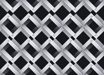 Modern design of seamless intersection staircase pattern
