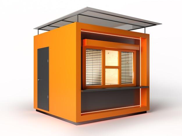 현대적인 디자인 매장 부스 3d 렌더링
