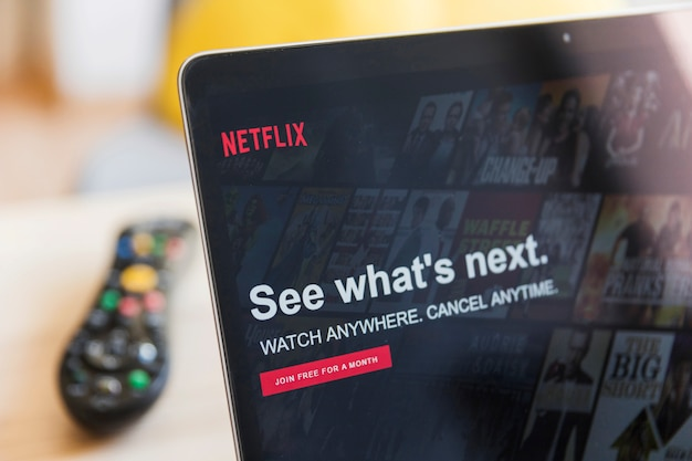 Modern device with netflix app