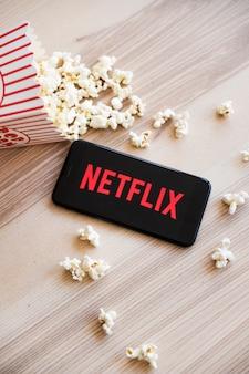 Modern device with netflix app