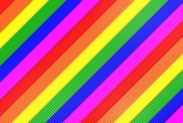 Modern diagonal lgbt rainbow flag wall background.