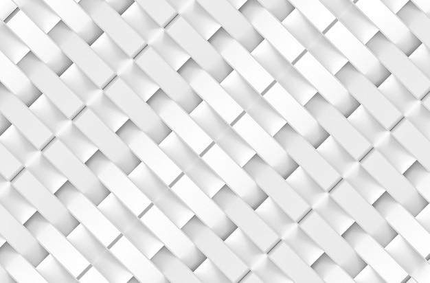 モダンな斜めの白い四角形バーパターンアートデザイン壁の背景。