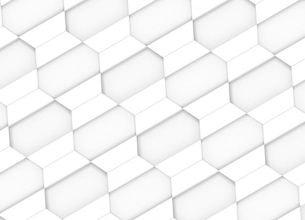 Modern diagonal white trapezoid square tiles design wall