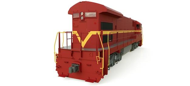 길고 무거운 철도 열차를 움직이는 데 큰 힘과 힘을 가진 현대식 디젤 철도 기관차