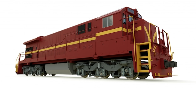 Modern diesel railway locomotive with great power and strength