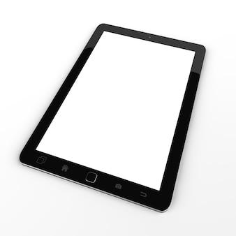 Modern digital black tablet 3d rendering