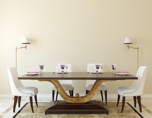 현대 식당 interior.3d 렌더링.