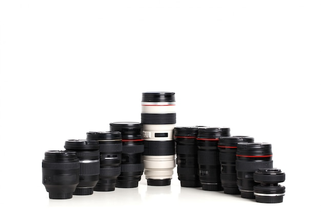 Modern dslr camera lenses