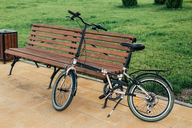 Modern eco friendly bicycle outdoors