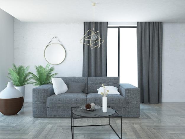 Современная элегантная и роскошная гостиная квартира
